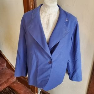Vintage Christian Dior blue wool blazer jacket 12